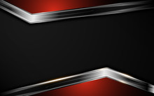 Abstract Silver Black Red Frame Layout Template Background Design