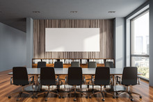 Gray And Wooden Meeting Room W...