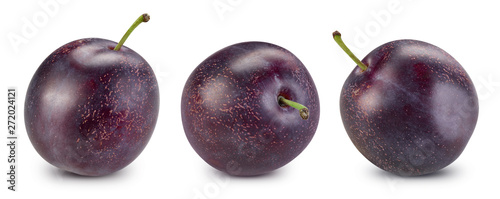 Fotografie, Obraz plum and slice clipping path