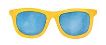 Pair Of Bright Yellow Sunglass...