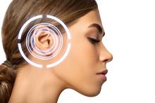 Woman Whith Ear Pain, Sufferin...