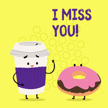 Text Sign Showing I Miss You. ...