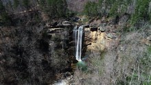 Aerial, Toccoa Falls In Rural ...