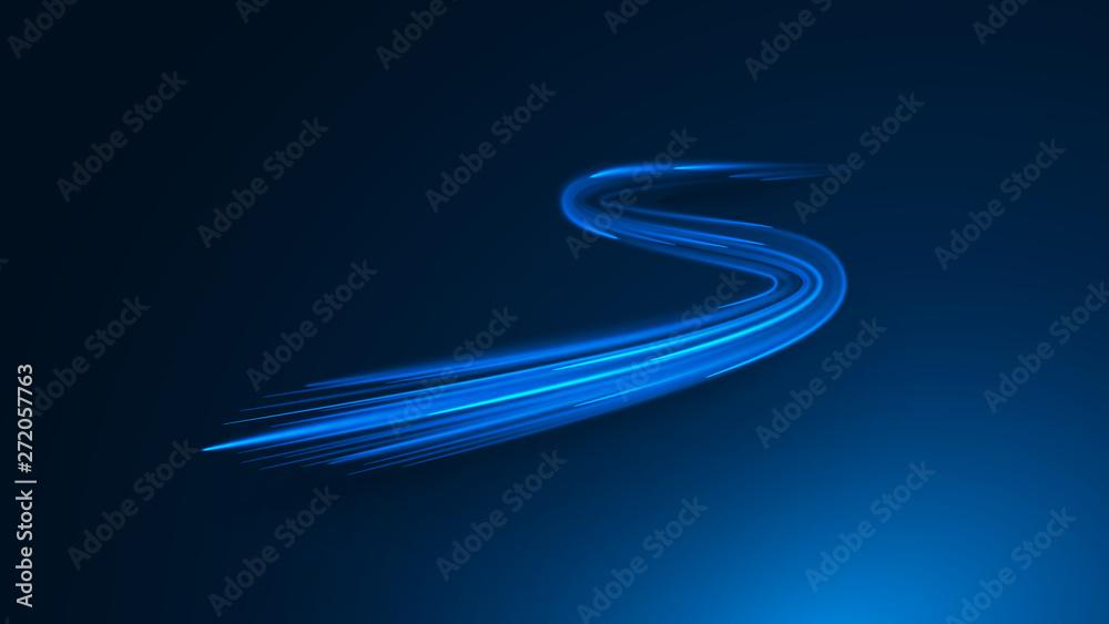 Fototapeta zigzag neon lines