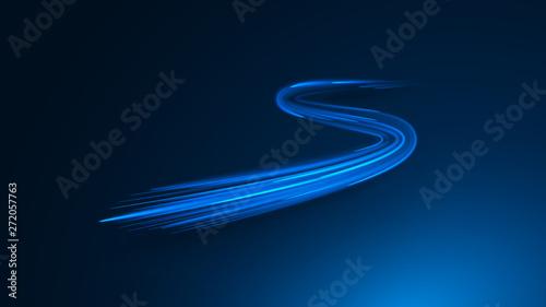 Obraz zigzag neon lines - fototapety do salonu