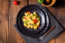 Crispy Gnocchi With Roasted As...