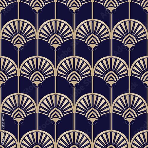 zlote-art-deco-abstrakcjonistyczne-palmy-na-ciemnym-tle-blekitny-wektorowy-bezszwowy-wzor-abstrakcjonistyczny-egipski-geometryczny-wzor
