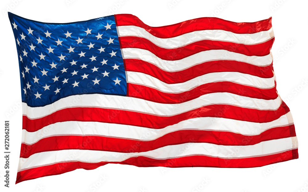 Fototapety, obrazy: american flag isolated on white background