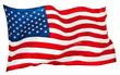 Leinwandbild Motiv american flag isolated on white background