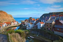 Reflections In Staithes Harbour, Yorkshire Coast, England