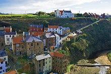 View From The Tops Of The Village Of Staithes, Near Scarborough, North Yorkshire