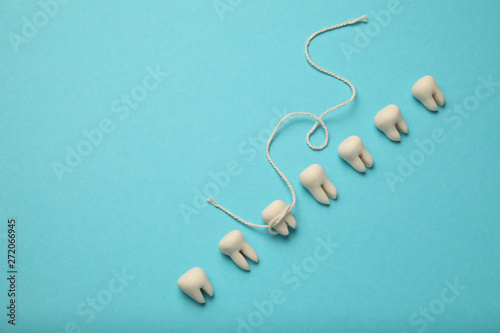 Photo Loss of baby tooth in children. Dental care in children.