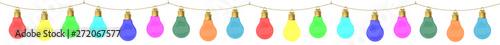 Valokuvatapetti Guirlande d'ampoules colorées