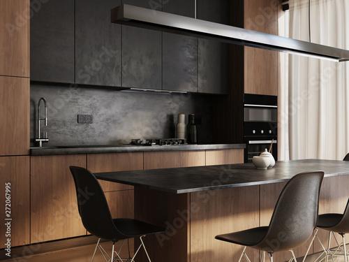 Obraz New modern kitchen interior - fototapety do salonu
