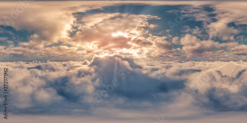 360° Sunset Above Clouds Fotobehang