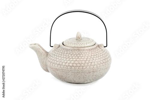 Fotomural ceramic teapot with handle