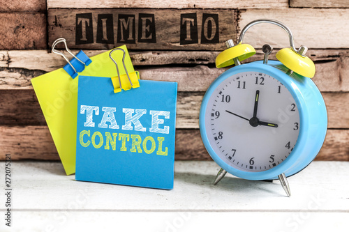 Post-it & alarm clock : Time to take control Canvas Print