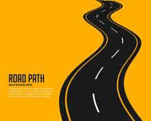 Curve Winding Roadway Backgrou...