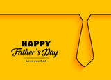 happy father day background in minimal style