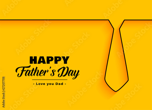 Obraz na płótnie happy father day background in minimal style