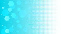 Abstract Blue Hexagonal Shapes Background