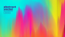Colorful Glitch Lines Abstract...