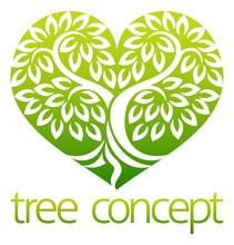 Tree Heart Iicon Concept Of A ...