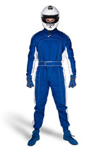 Determined Race Driver In Blue...