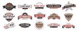 Stare odznaki Vintage znak, retro premium odznaka i logo godło rama wektor zestaw