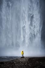 Epic Waterfall Skogafoss In Iceland