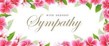 Postcard Sympathy Floral Pink ...