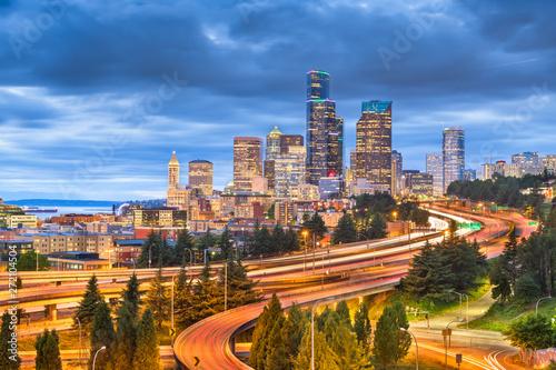 Seattle, Washington, USA downtown skyline Canvas Print