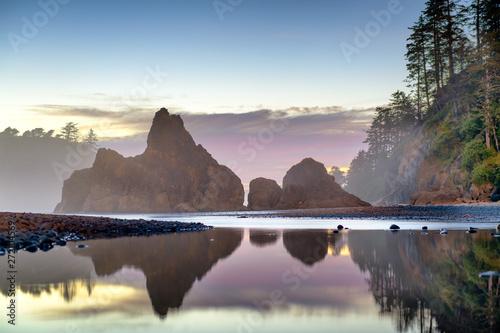 Olympic National Park, Washington, USA at Rialto Beach. Canvas Print
