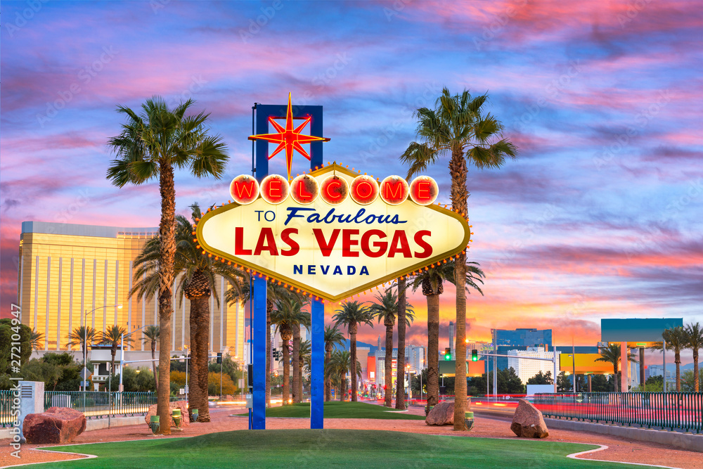Leinwandbild Motiv - SeanPavonePhoto : Las Vegas Welcome Sign