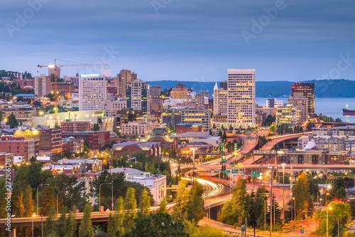 Tacoma, Washington, USA skyline Canvas Print
