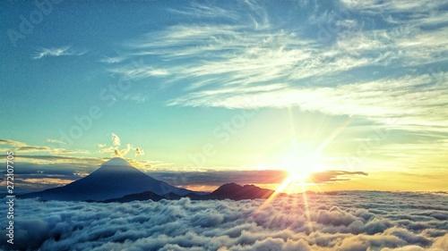 Fotografie, Obraz  富士山からの日の出