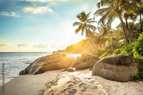 Fotografie, Obraz Sunset At Anse Intendance, Mahe Island, Seychelles