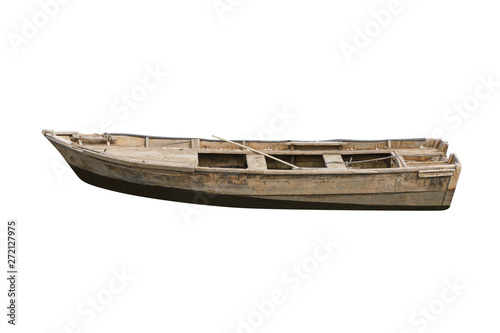 Canvas Prints Ship fishing boat isolated on white background.