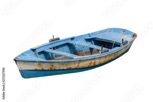 Foto auf AluDibond Schiff fishing boat isolated on white background.