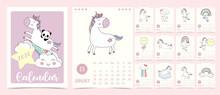 Doodle Pastel Calendar Set 202...