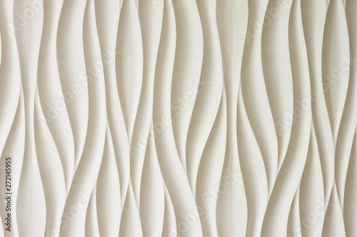 The texture of relief 3D panels in the form of waves. Background - 272145955