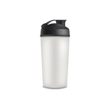 Sport Or Travel Water White Cup 3d Realistic Vector Mockup Illustration Isolated.