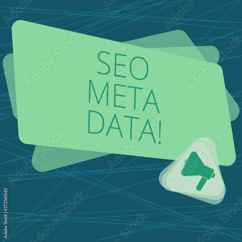 Handwriting text Seo Meta Data  Concept meaning Search