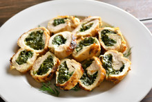 Stuffed Chicken Fillet With Spinach And Cheese