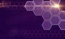 Creative Purple Hexagonal Background