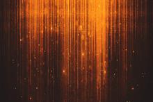 Glowing Orange Sparkles Background