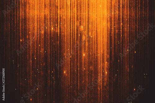 Glowing orange sparkles background - fototapety na wymiar
