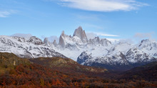 Mount Fitz Roy And Autumn Fore...
