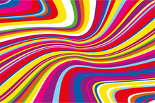 Bright Dynamic Background With Wavy Lines