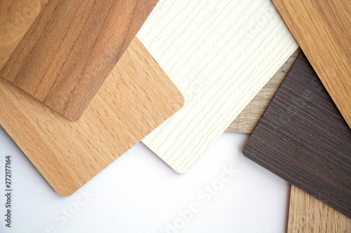 Fototapeta Background or concept of multi-colored cards in gray and brown tones and different textures isolate on a white background obraz na płótnie